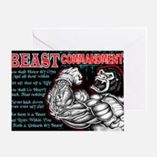4-Commandments of the BEAST Greeting Card