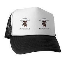 Hold my weiner mug Trucker Hat