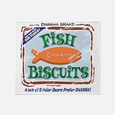fishbiscuits Throw Blanket