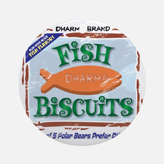 fishbiscuits Round Ornament
