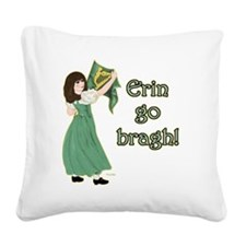 TR-Erin-Go-Bragh-with-gold Square Canvas Pillow
