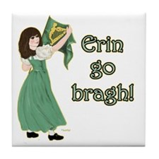 TR-Erin-Go-Bragh-with-gold Tile Coaster