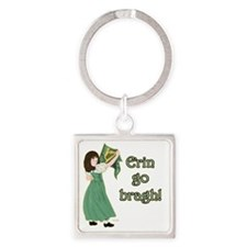 TR-Erin-Go-Bragh-with-gold Square Keychain