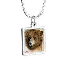 Arthur Large Silver Square Necklace
