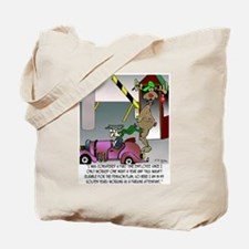 A Reindeer in His Golden Years Tote Bag