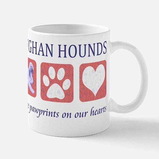FIN-afghan-hound-pawprints- NEW Mug