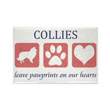 FIN-collie-pawprints-CROP Rectangle Magnet
