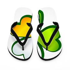 Irish flag shamrock Flip Flops