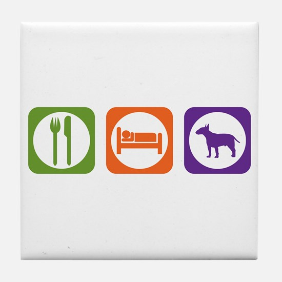 Eat Sleep Terrier Tile Coaster