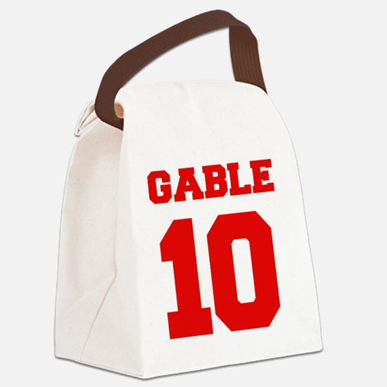 STAN GABLE 10 BACK Canvas Lunch Bag