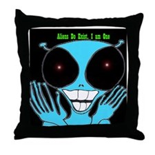 3-Alien copy Throw Pillow
