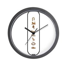 "Clifford in Hieroglyphics ""Co Wall Clock"