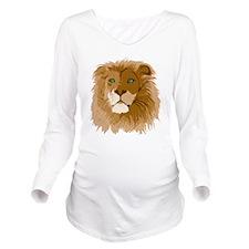Realistic Lion Long Sleeve Maternity T-Shirt