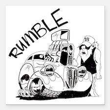 "rumble Square Car Magnet 3"" x 3"""