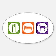 Eat Sleep Catahoula Oval Decal