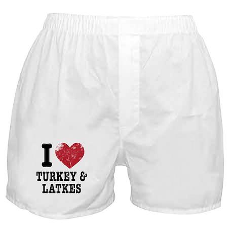 I Heart Turkeys Latkes Boxer Shorts