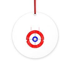 Curling -dark Round Ornament