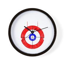 Curling -dark Wall Clock
