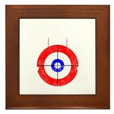 Curling -dark Framed Tile