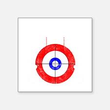 "Curling -dark Square Sticker 3"" x 3"""