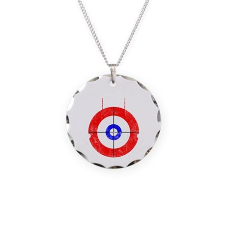 Curling -dark Necklace Circle Charm