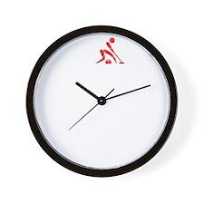 Curling Thing -dark Wall Clock
