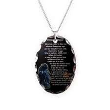 prayer8.gif Necklace Oval Charm