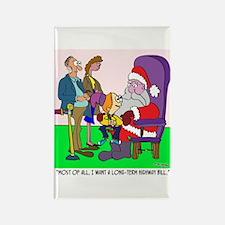 Ask Santa for a Highway Bill Rectangle Magnet