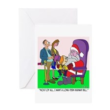 Ask Santa for a Highway Bill Greeting Card