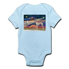 Xmas Star Sloughi Infant Bodysuit