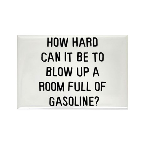 A room full of gasoline Rectangle Magnet