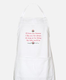 I'll love you forever BBQ Apron