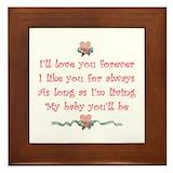 I love you forever i like you for always Framed Tiles