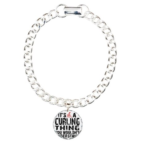 Curling Thing -light Charm Bracelet, One Charm