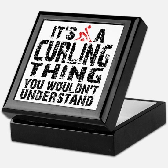 Curling Thing -light Keepsake Box