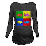 Pop Art Rabbit Long Sleeve Maternity T-Shirt