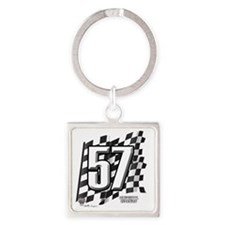 flagtag57 Square Keychain