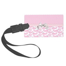 Cute Baby Pink Whales Luggage Tag