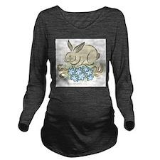 Rabbit Long Sleeve Maternity T-Shirt