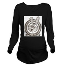 Retro Rabbit Long Sleeve Maternity T-Shirt