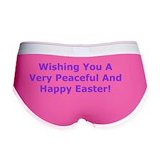 Happy Easter Card Verse Women's Boy Brief