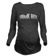 Shark Bite Long Sleeve Maternity T-Shirt