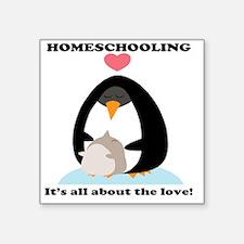 """homeschool love Square Sticker 3"""" x 3"""""""