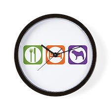 Eat Sleep Shar-Pei Wall Clock