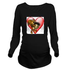 Heart & Squirrel Long Sleeve Maternity T-Shirt