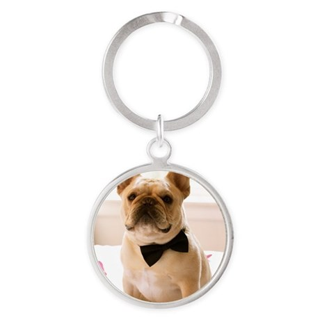Dressed to the Nines Round Keychain