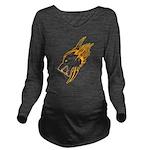 Wolf Long Sleeve Maternity T-Shirt