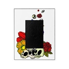 SkullsFlowers_Shaded Picture Frame