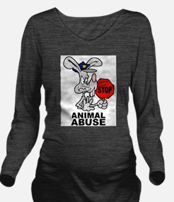 Stop Animal Abuse Long Sleeve Maternity T-Shirt