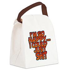 IM SO HAPPY Canvas Lunch Bag